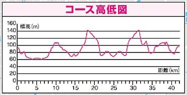 奈良マラソン高低図
