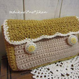 かわいい編みポーチ2