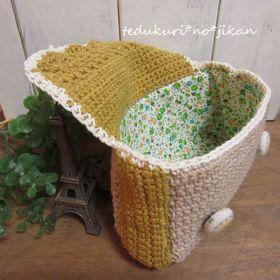 かわいい編みポーチ3
