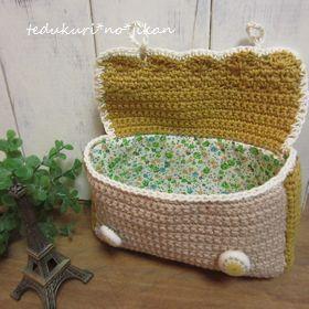 かわいい編みポーチ4
