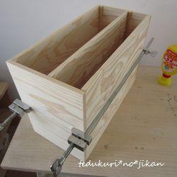 そうめんの木箱リメイク5