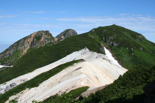 硫黄山が近付いた