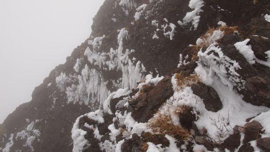 頂上横の岩