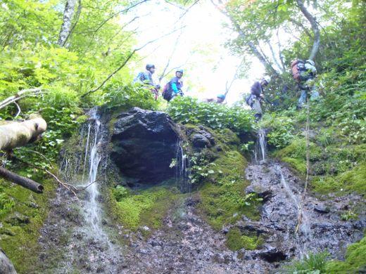 懸垂下降の滝