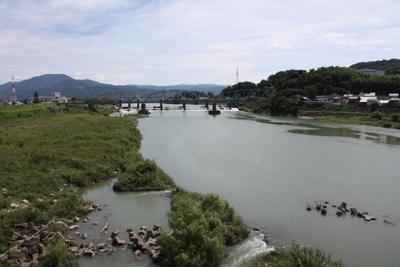 20130909岩出橋より紀の川を望む
