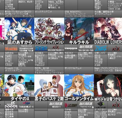 2013年秋アニメ一覧画像最新版公開! ついに新番組は46作品に!!