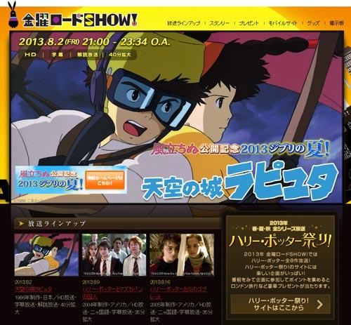 """天空の城ラピュタ:""""バルス祭り""""貢献 視聴率18.5%!"""