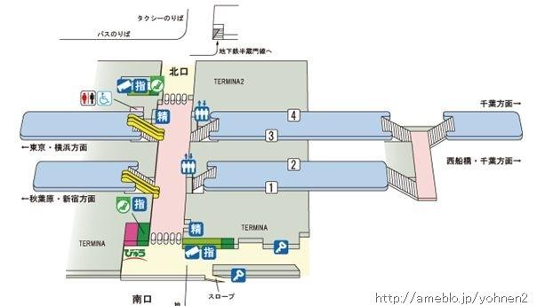 錦糸町駅構内図