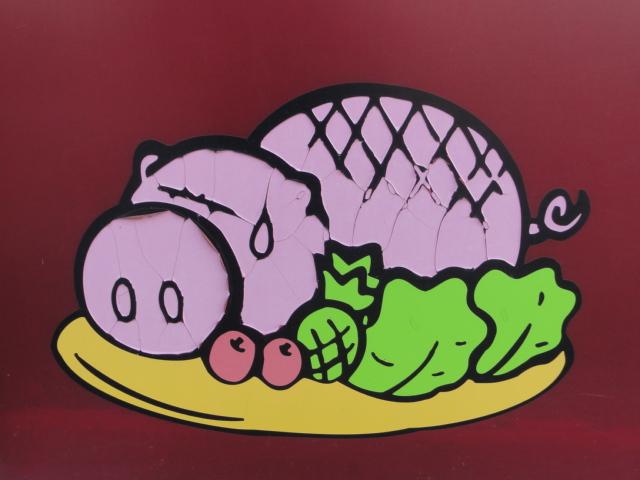 2013年9月 高霊の食堂 豚の絵