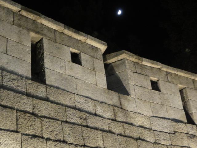 2013年11月10日 ソウル城郭と月