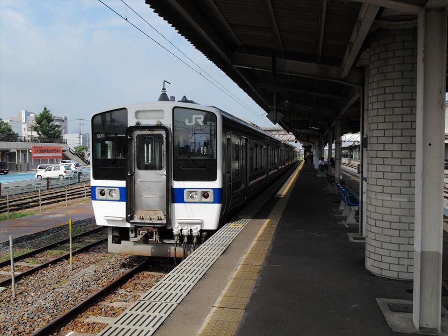 水戸線下館駅風景ホーム01
