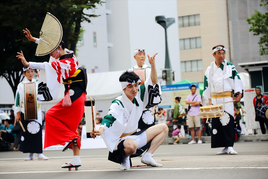 仙台雀踊り阿波踊り舞台ペア04
