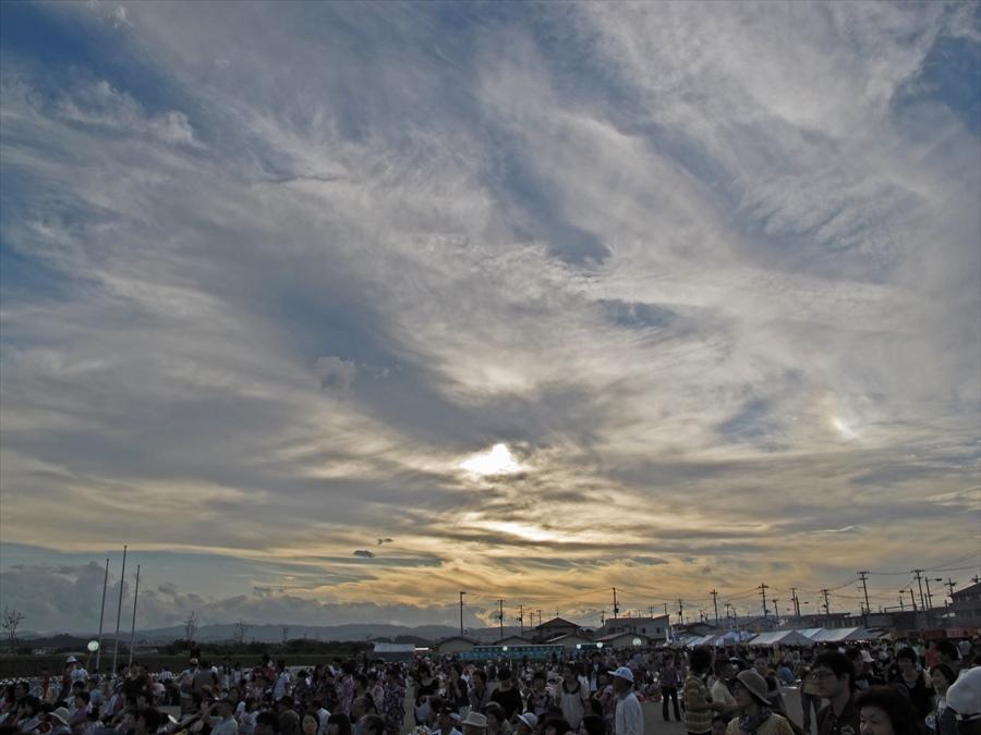 名取祭り空景夕景01