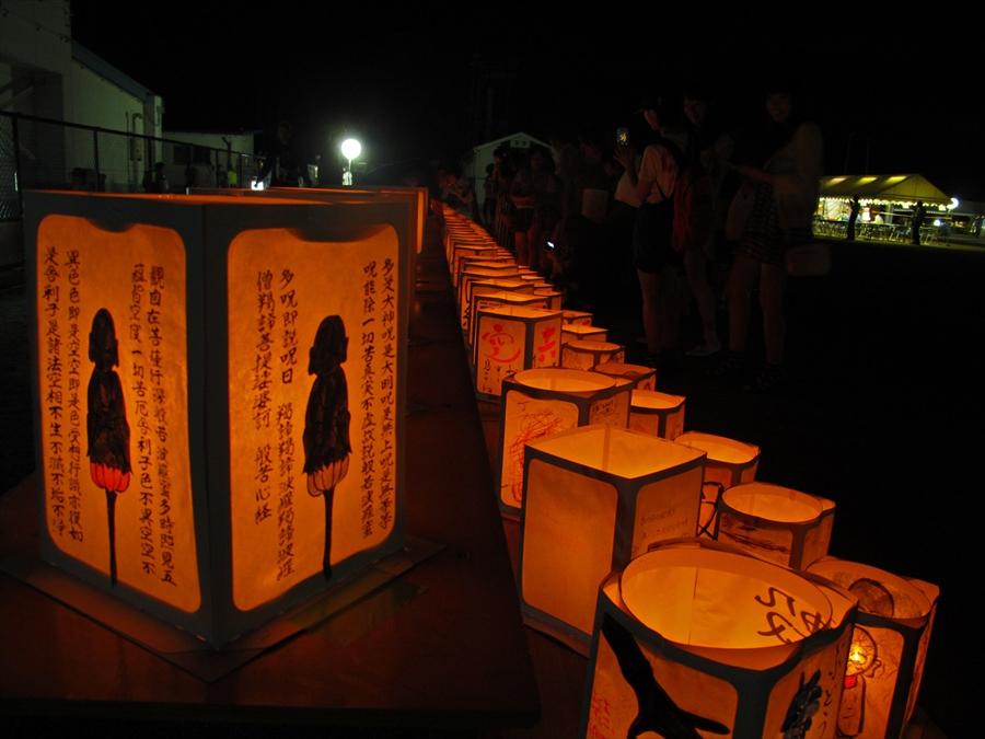 名取祭り灯篭宵闇点灯05