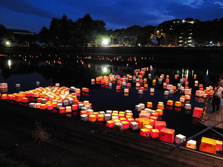 広瀬川灯篭流し01