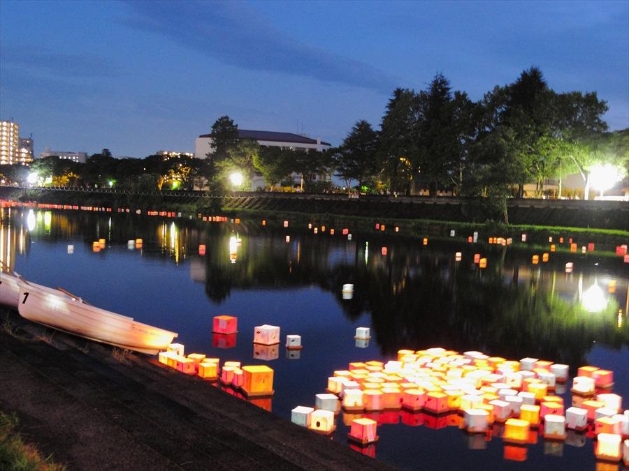 広瀬川灯篭流し04