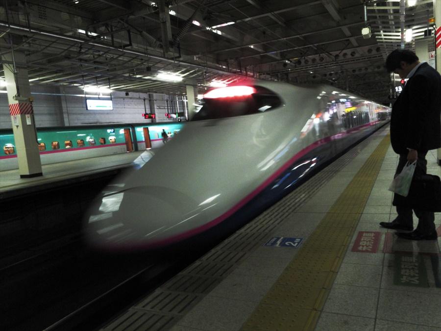 仙台駅到着E2系03
