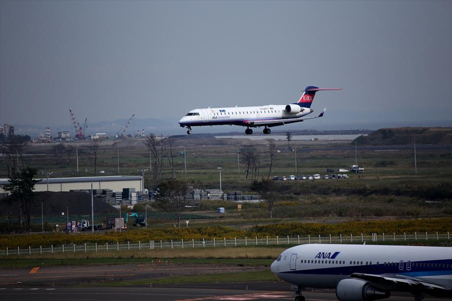 仙台空港撮影IBEX04アプローチ