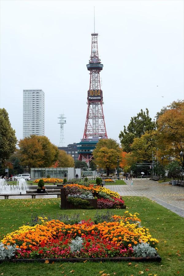 札幌大通り01テレビ塔と花壇03