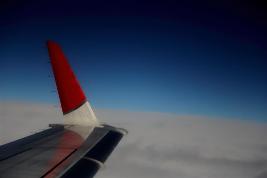 ヒコウキ翼の光り06