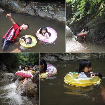 鈍川渓流遊び
