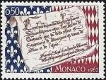 モナコ・主権450年(承認の文書)