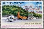 セントヴィンセント・独立加刷航空切手