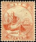 リベリア最初の切手