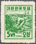 韓国・第1次ウォン貨シリーズ(農夫)