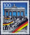 西ドイツ・ベルリンの壁崩壊1周年