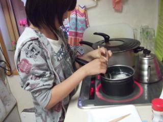 りーちゃんゆで卵作り