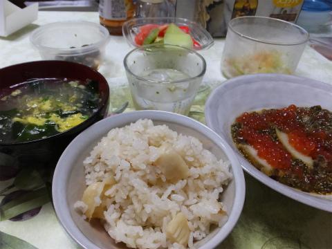 ホタテご飯と海宝漬