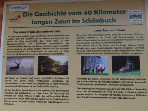 森の囲い地の歴史看板