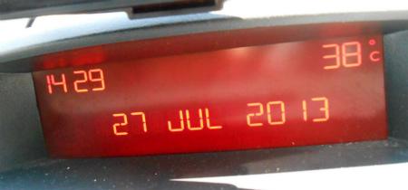 気温38度