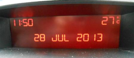気温27度