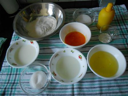 シフォンケーキ材料