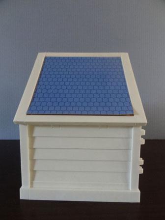 水門管理小屋 屋根