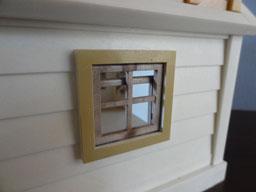 水門管理小屋 窓