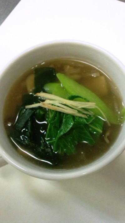 春わかめときのこの生姜スープ