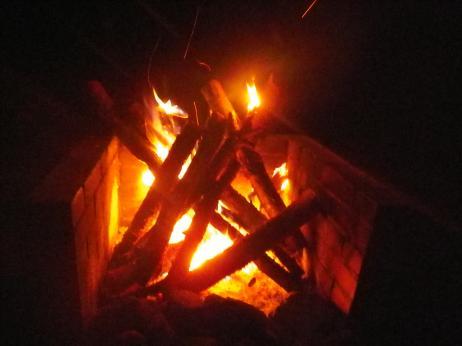 御座松キャンプ場 2013 焚火