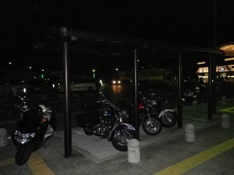 多賀SA バイク駐車場