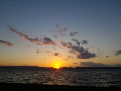 天神浜キャンプ場 夕日