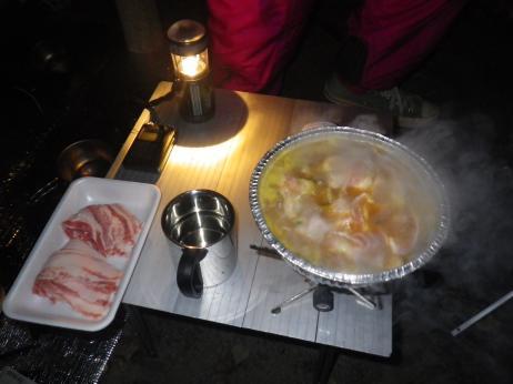 のよさの里オートキャンプ場 紅葉 夕食