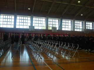 平成25年度墨坂中学校入学式