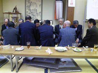 H25春境沢町地蔵尊祭典酒宴盃の儀