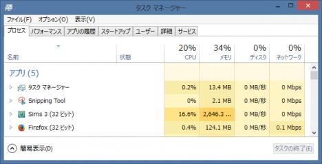 sims3_windows8-1_メモリ使用量