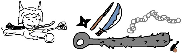 鬼嫁の武器