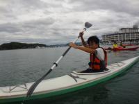 手作りカヤック海10