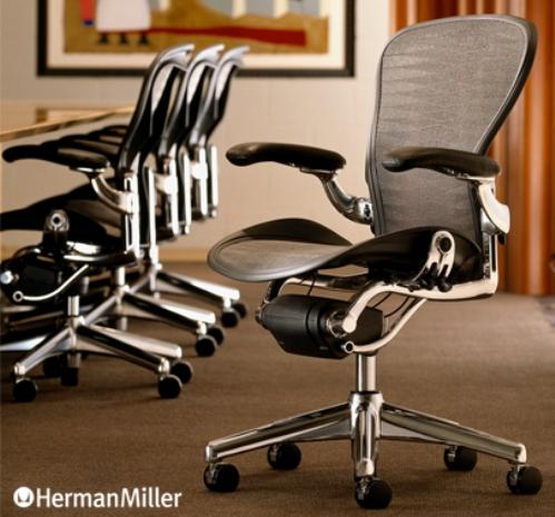 Aeron Chair Polished Aluminium Base ポスチャーフィットフル装備(アーロンチェア ポリッシュドアルミニウムベース)Don Chadwick & Bill Stumpf(ドン・チャドウィック&ビル・スタンフ)Herman Miller(ハーマンミラー社)