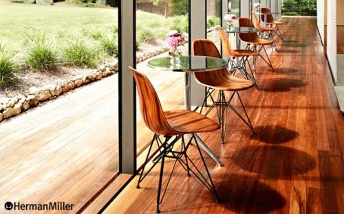 Eames Molded Wood Chair Wire Base(イームズ ウッドシェルチェア ワイヤーベース)Charles & Ray Eames(チャールズ & レイ・イームズ)Herman Miller(ハーマンミラー)